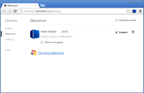 Inbox Toolbar Google Chrome