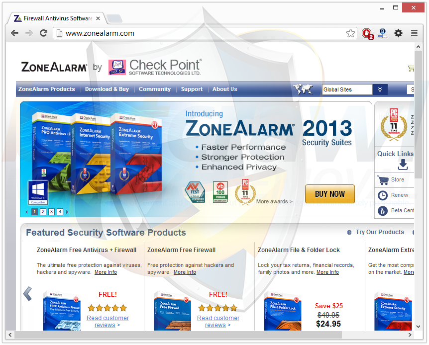 Remove ZoneAlarm Security Toolbar - search.zonealarm.com redirect ...
