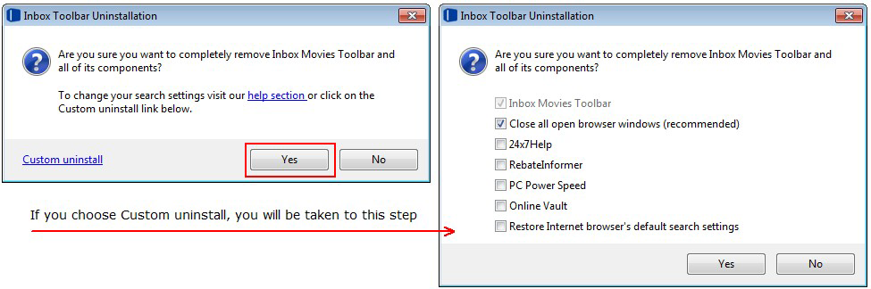 uninstall Inbox Toolbar malware