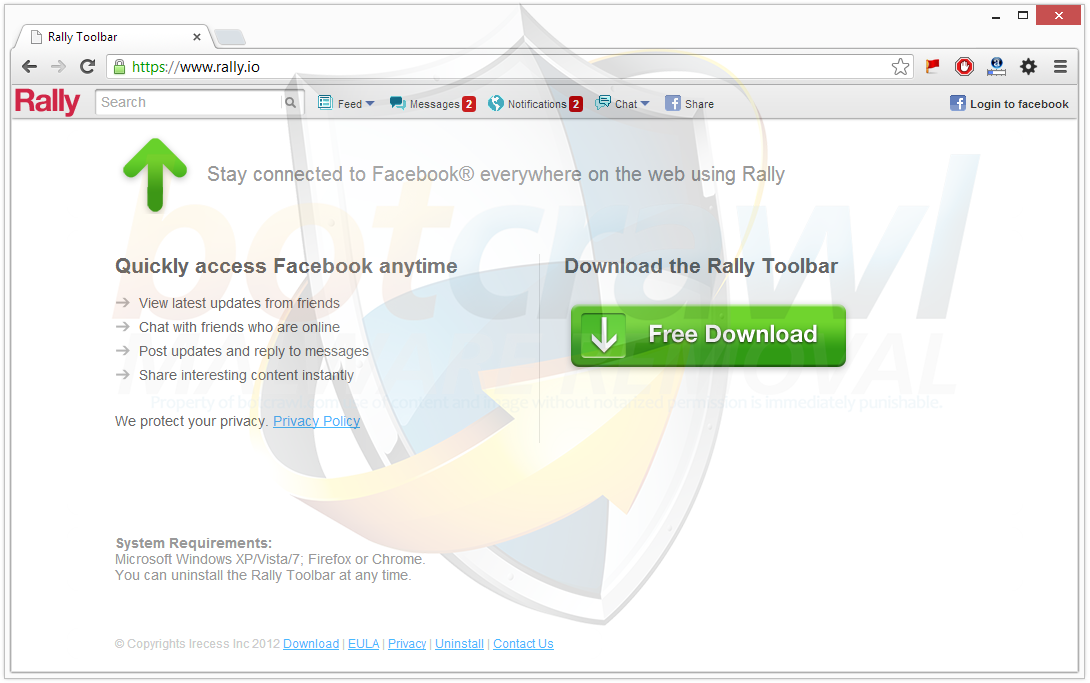 What is Rally Toolbar (my.rally.io redirect)?