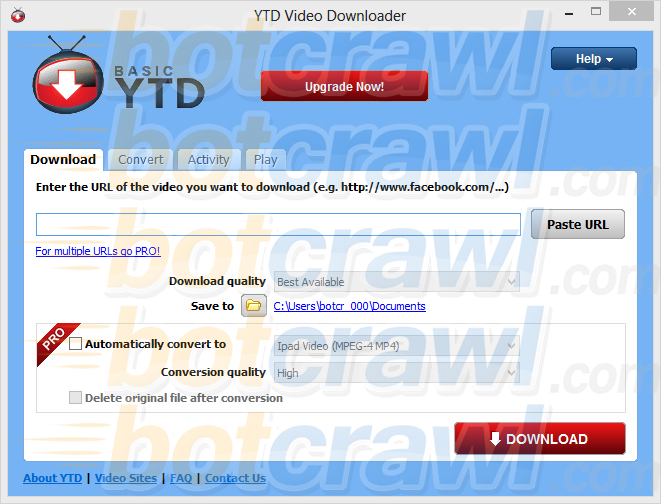Basic YTD Video Downloader virus