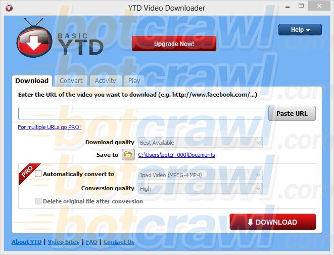 Basic YTD Video Downloader virus