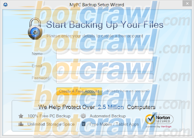 MyPC Backup malware