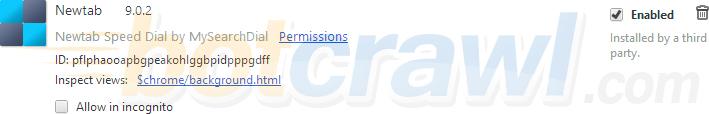 Newtab extension google chrome