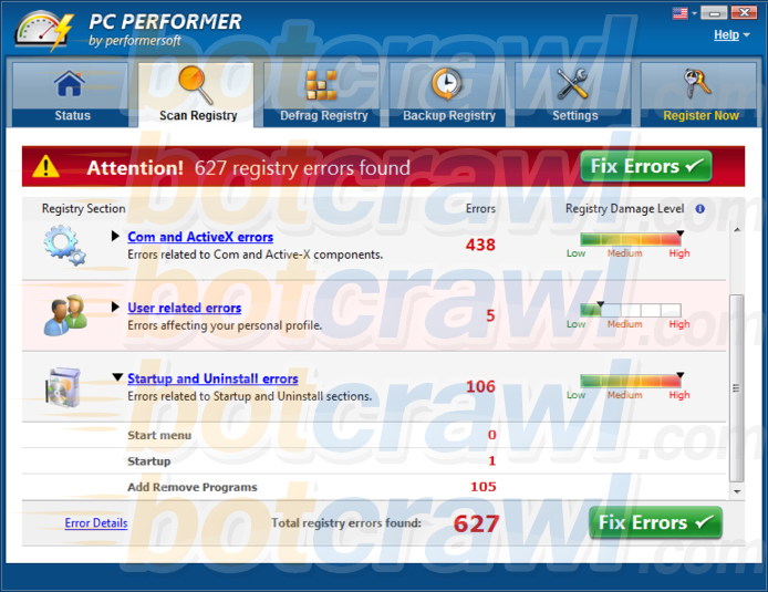 PC Performer by performersoft virus
