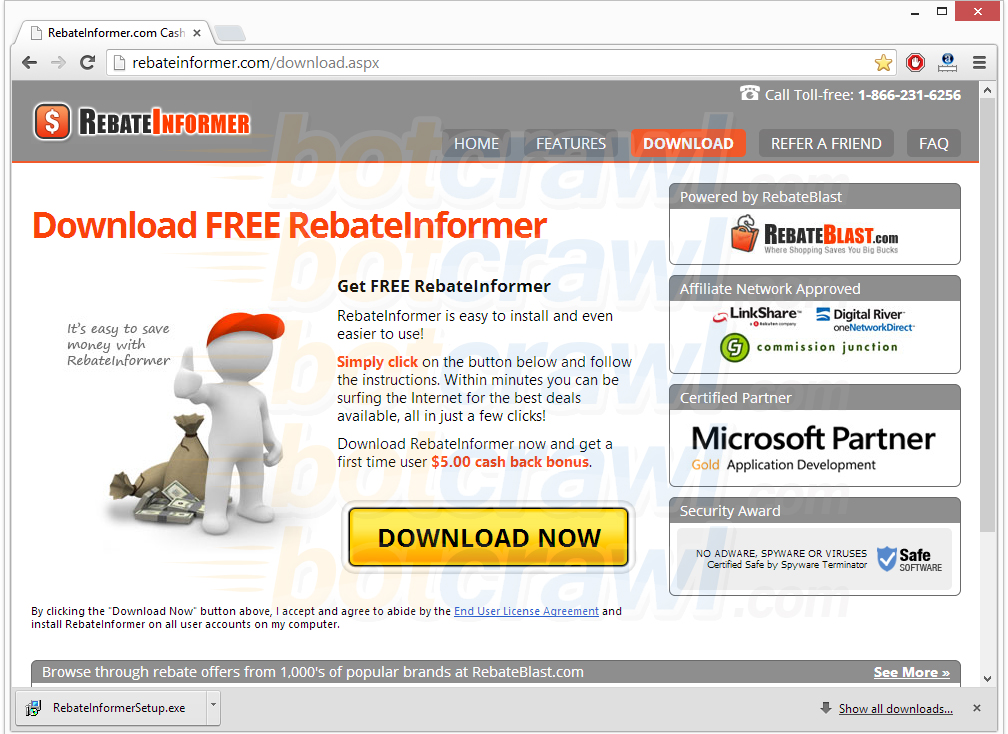 Rebate Informer virus