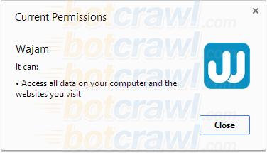 Wajam virus permissions