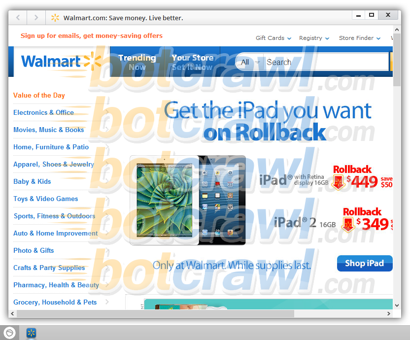 Walmart App malware