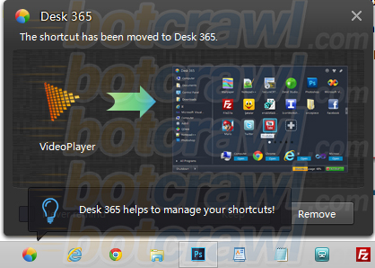 Windows Desk 365 pop-up