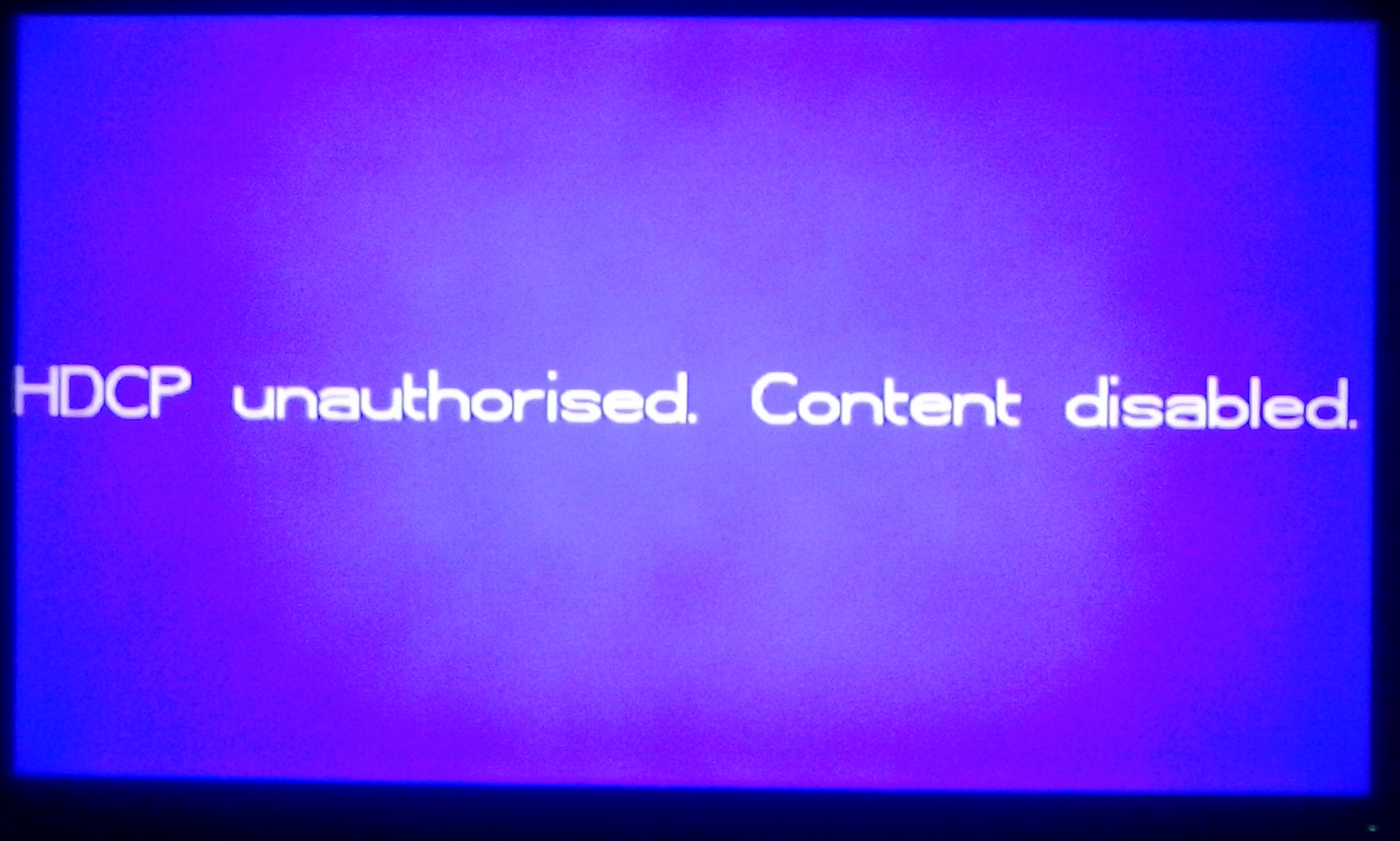 HDCP unauthorised. Content disabled fix roku