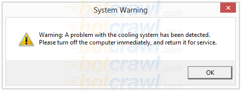 Warning A problem with the cooling system has been detected fix