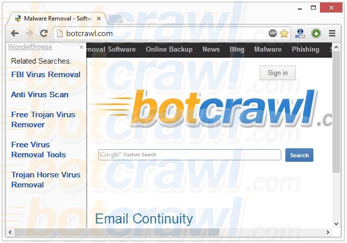 WonderBrowse virus