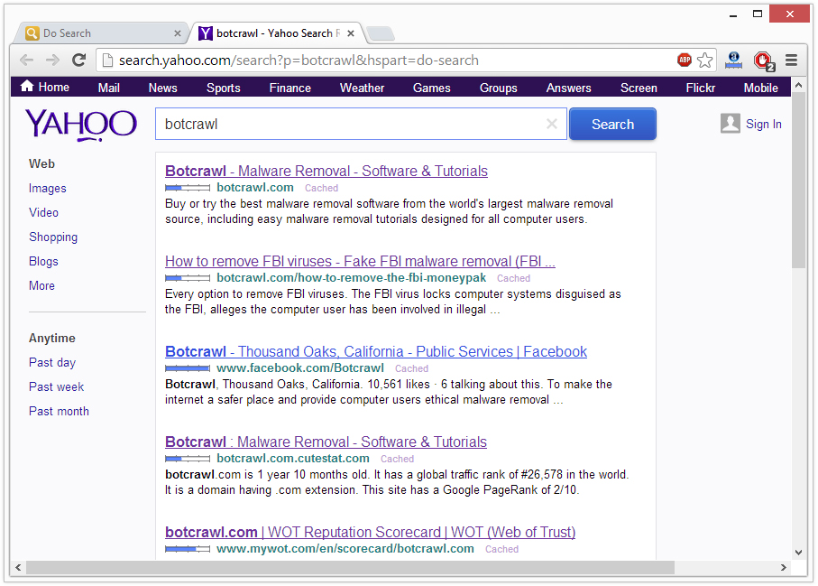 How To Remove Yahoo Search Results