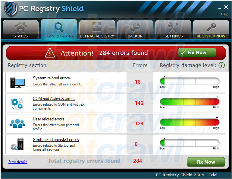 PC Registry Shield malware