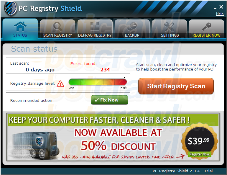 PC Registry Shield virus