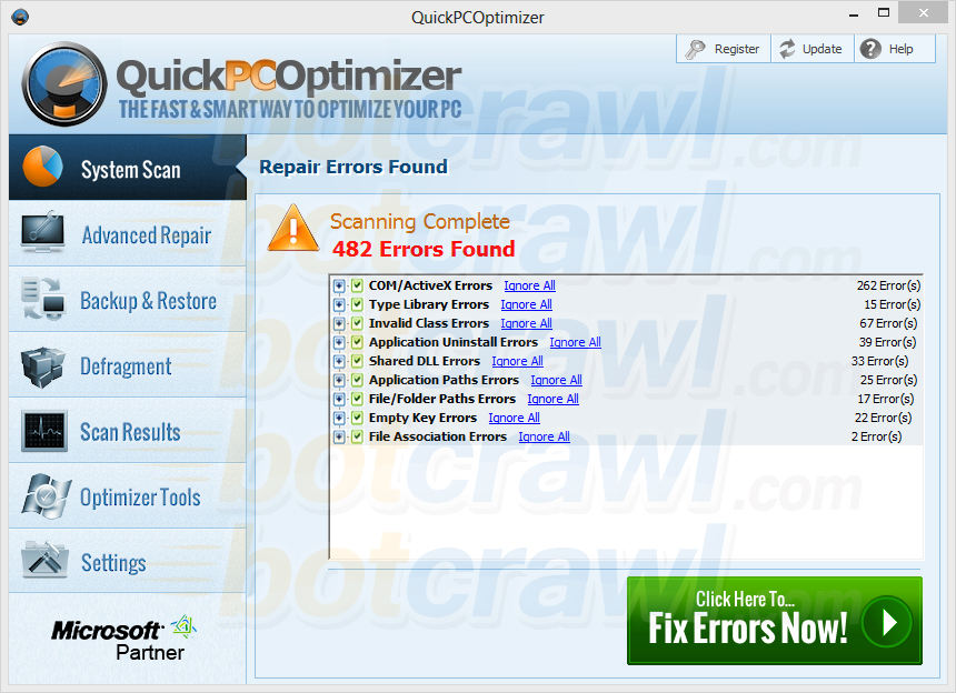 QuickPCOptimizer rogue software