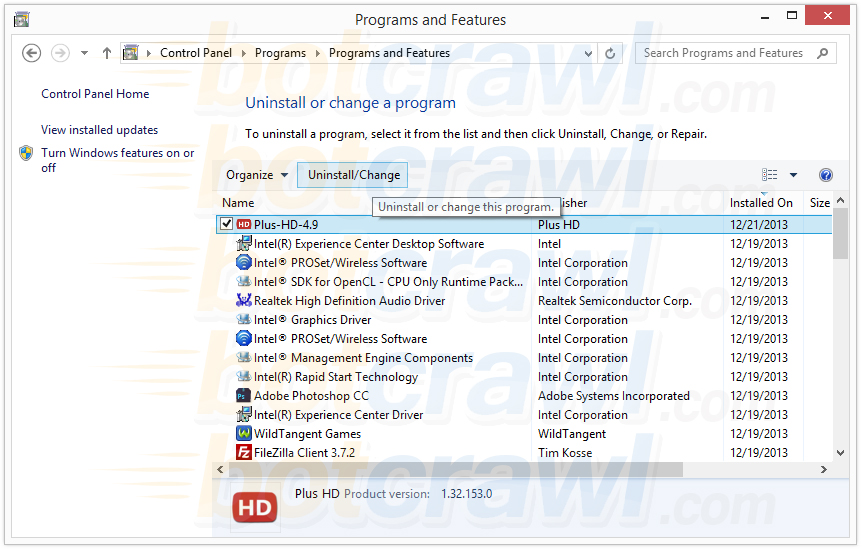 uninstall Plus-HD malware