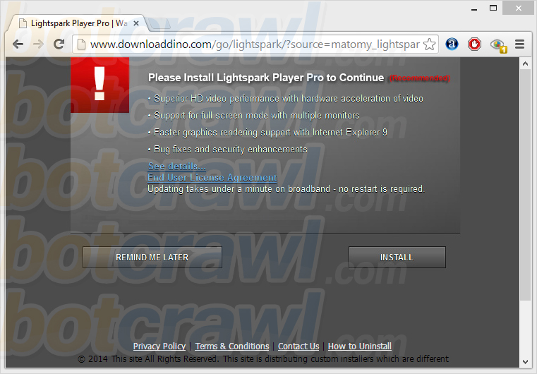 Lightspark Player Pro virus