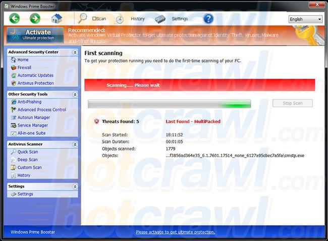 Windows Prime Booster virus