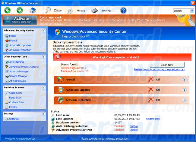 Windows Ultimate Booster virus