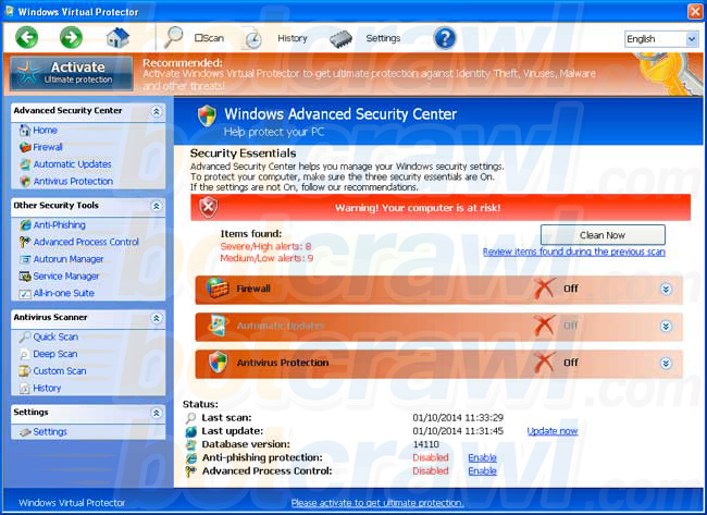 Windows Virtual Protector virus