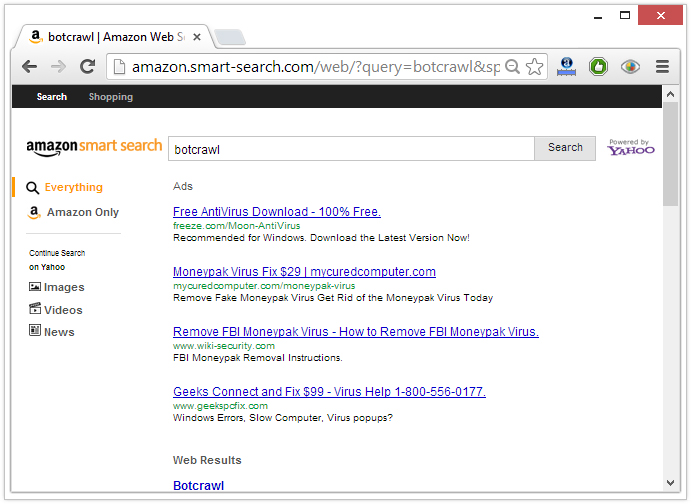 amazon.smart-search redirect virus