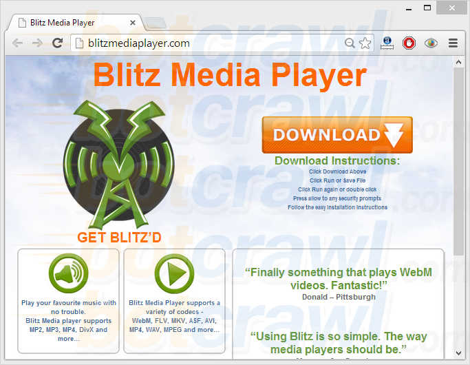 blitz media player malware