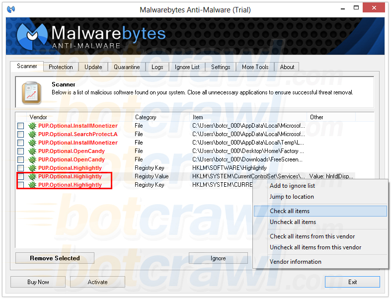 highlightly malwarebytes