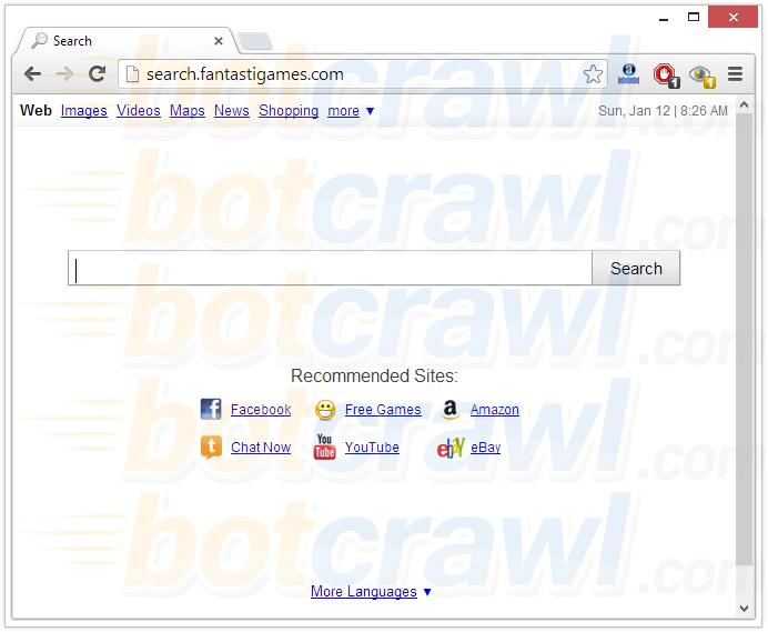 search.fantastigames.com virus