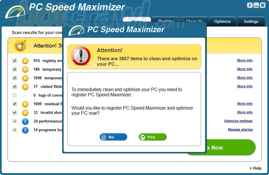 PC Speed Maximizer malware
