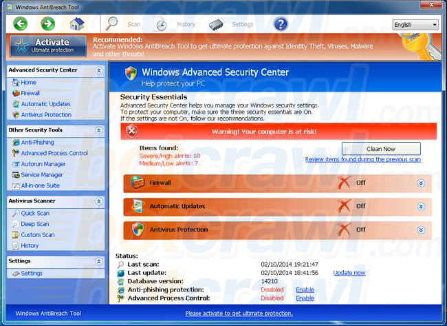 Windows AntiBreach Tool virus