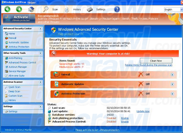 Windows AntiVirus Helper virus