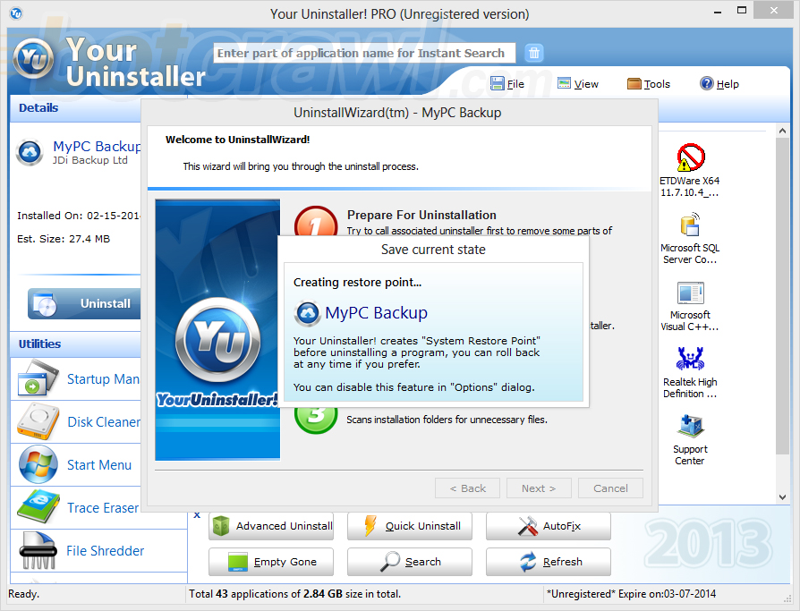Your Uninstaller malware
