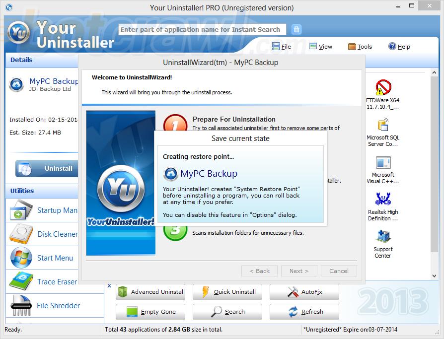Your Uninstaller malware