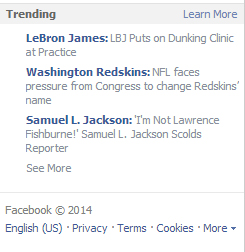 remove Facebook Trending topics