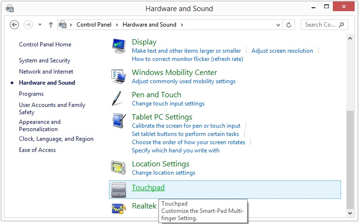 disable Windows 8 right corner icons