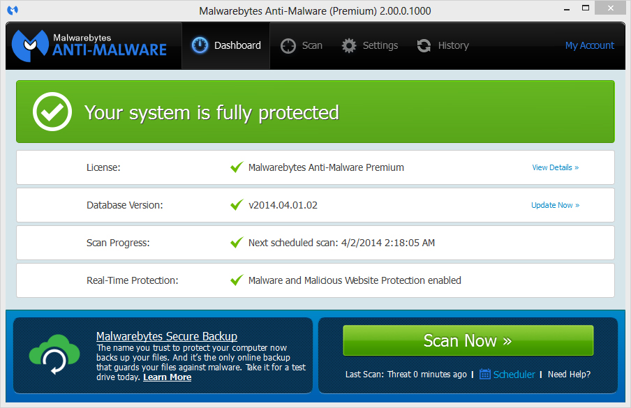 remove with malwarebytes