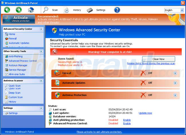 windows antibreach patrol virus