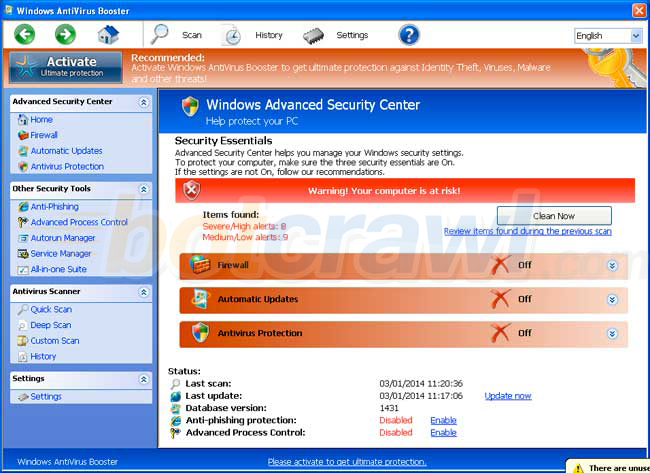 windows antivirus booster virus