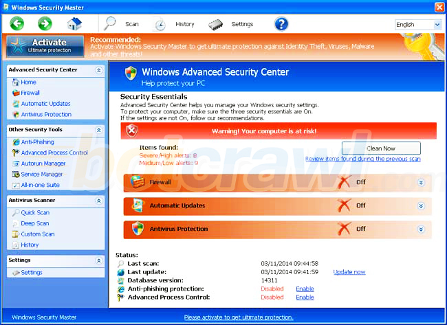 windows security booster removal