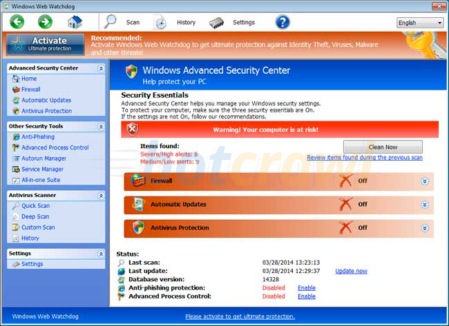 windows web watchdog virus
