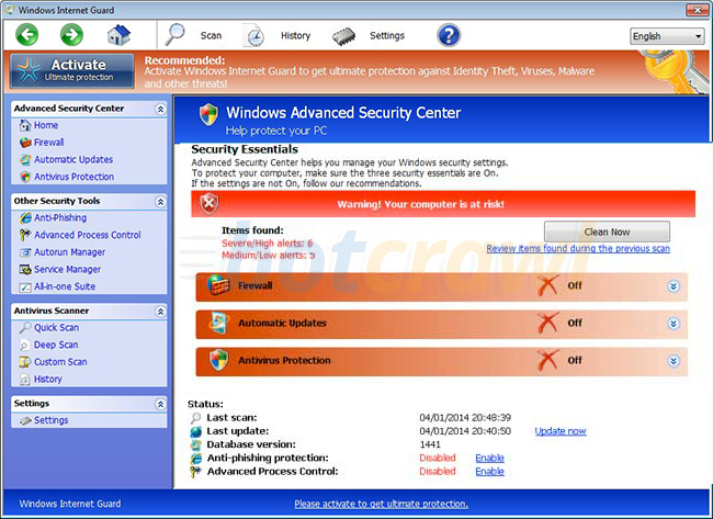 Windows Internet Guard virus