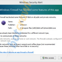 knctr windows firewall blocked this app message
