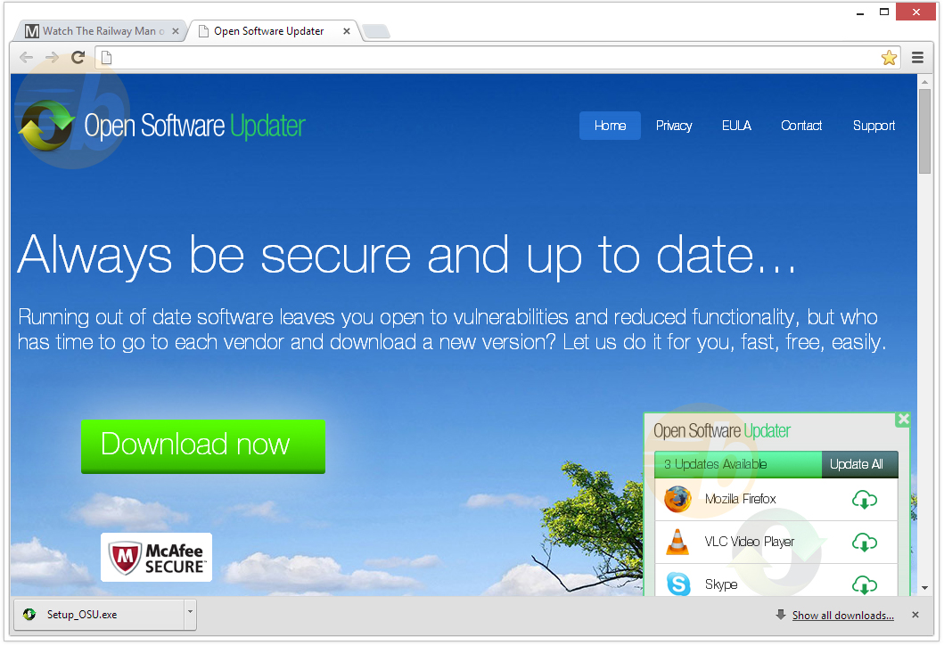 remove Open Software Updater malware