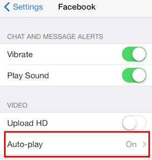 facebook video autoplay on iphone