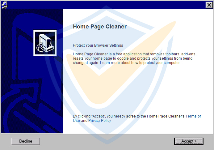 Home Page Cleaner