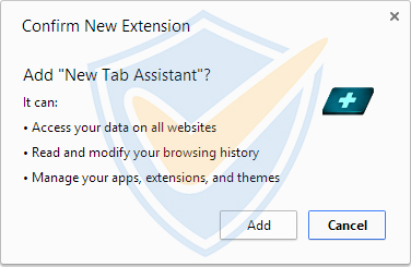 New Tab Assistant malware