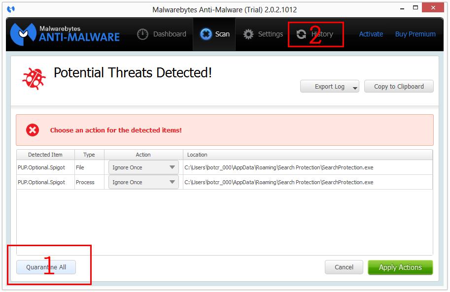 searchprotection malwarebytes