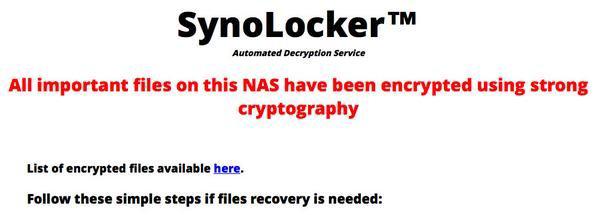 synolocker virus