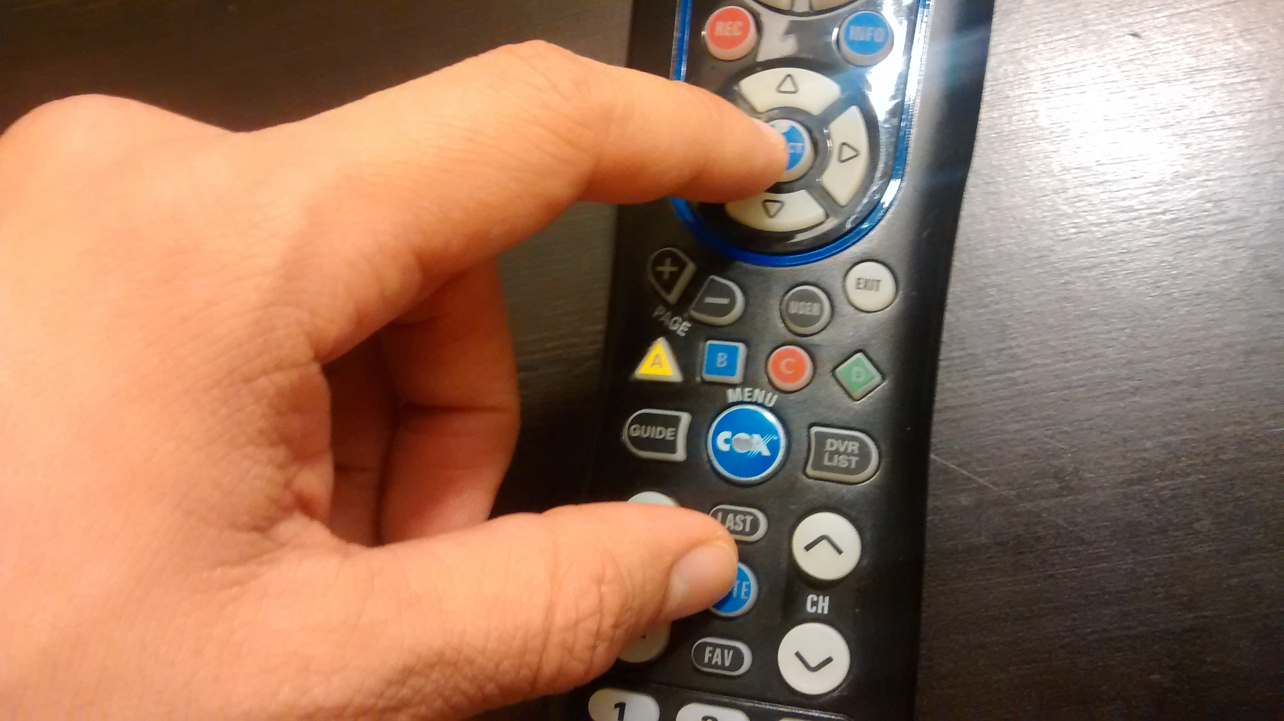 Sync Cox Remote to TV